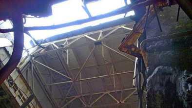 Потолок рухнул в колледже в Щучинске