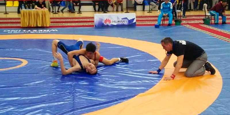 Чемпионат РК по вольной борьбе стартовал в Щучинске