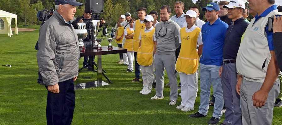 """Назарбаев официально открыл гольф-клуб """"Бурабай"""" в Щучинске"""