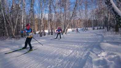 В Щучинске прошли соревнования по лыжным гонкам