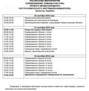 БОРОВОЕ - ПЕРВЫЙ МЕЖДУНАРОДНЫЙ ГАСТРОНОМИЧЕСКИЙ ФЕСТИВАЛЬ «NOMAD FOOD»