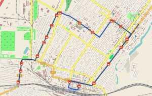 Маршрут автобуса 5 на карте Щучинска