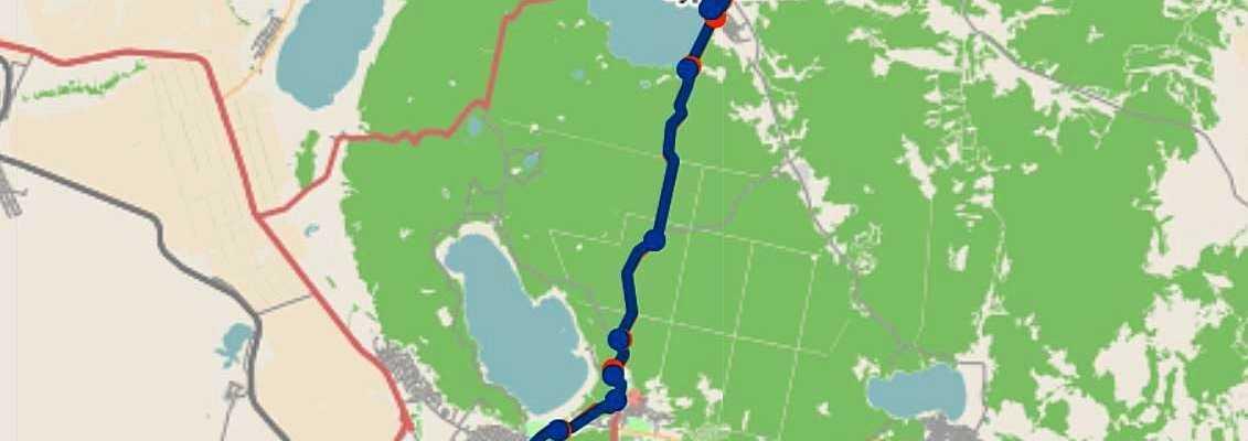 Щучинск маршрут автобуса 11 Вокзал — ул.Ауэзова — посёлок Бурабай — с.Зелёный бор