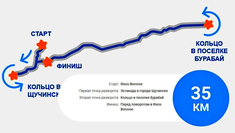 Маршрут Burabike Fest 2019 35 км