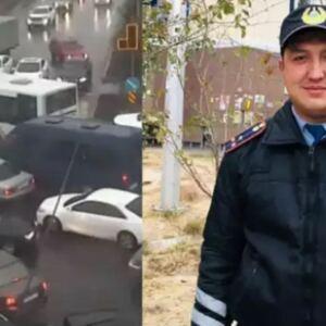Возвращавшийся с ночной смены полицейский вышел из машины и начал регулировать движение